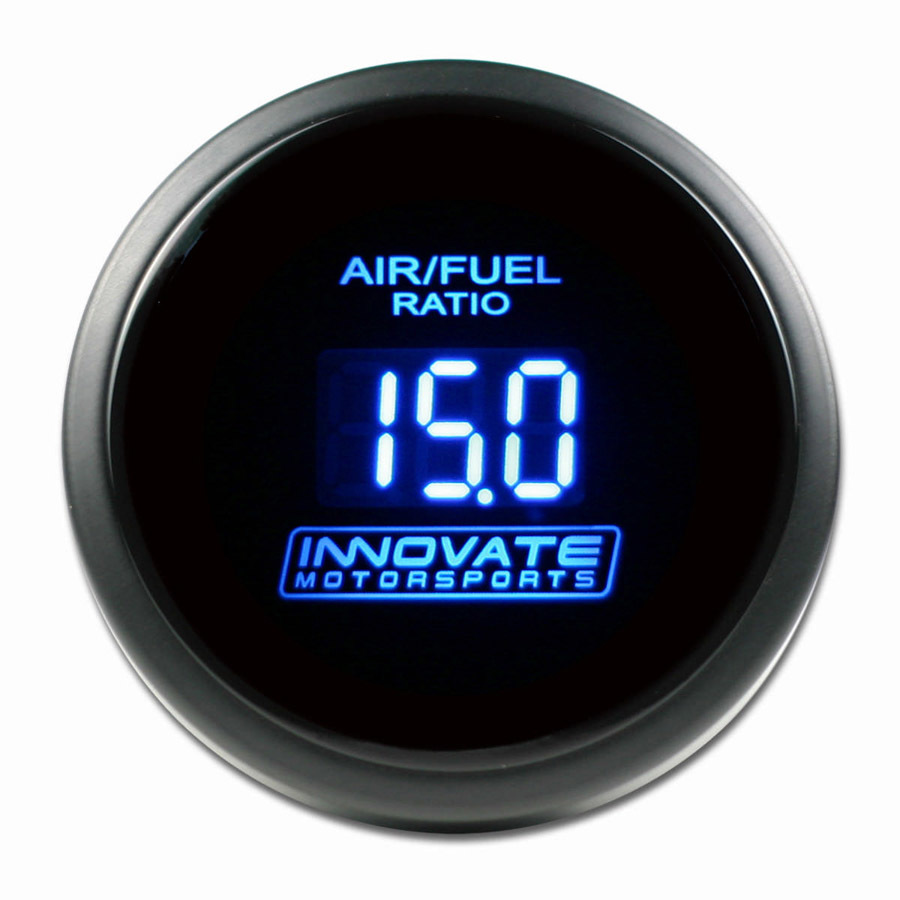 Innovate Motorsports 3793 Air-Fuel Ratio Gauge, DB, Wideband, 8:1-18:1 AFR, Electric, Digital, 2-1/16 in Diameter, Black Face Blue LED, Gauge Only, Each