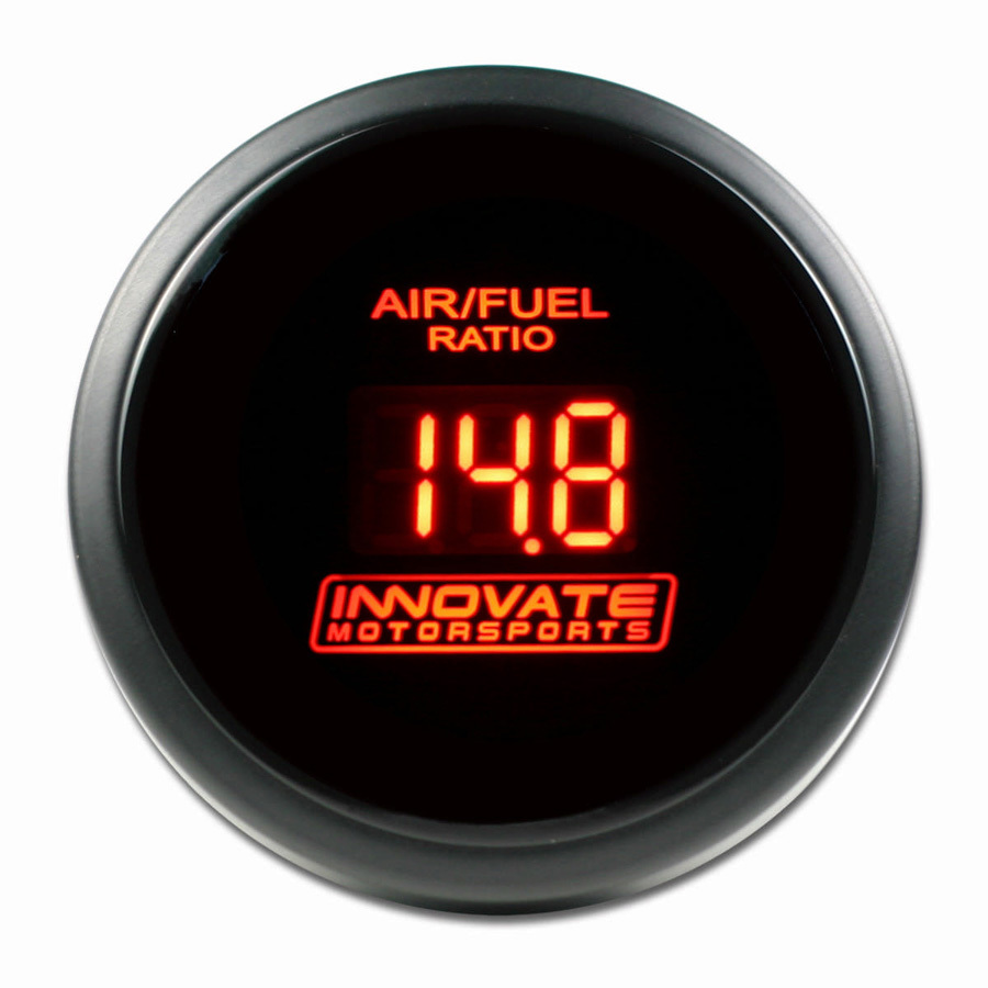 Innovate Motorsports 3794 Air-Fuel Ratio Gauge, DB, Wideband, 8:1-18:1 AFR, Electric, Digital, 2-1/16 in Diameter, Black Face Red LED, Gauge Only, Each
