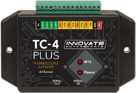 Innovate Motorsports 3915 Data Logger Thermocouple Amplifier Interface, TC-4, 4 Channel, Innovate LM-1/2 or MTS Components, Kit