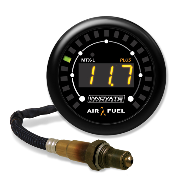 Innovate Motorsports 3918 Air-Fuel Ratio Gauge, MTX-L, Wideband, 7.35:1-22.4:1 AFR, Electric, Digital, 2-1/16 in Diameter, 8 ft Cable, White Face, Kit