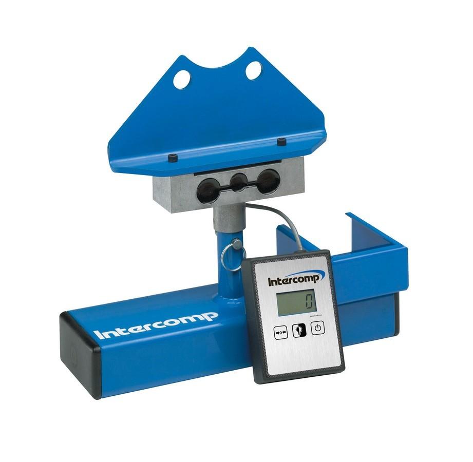 Intercomp 102030 Vehicle Scale, Corner Weight, Electric, Hub Mount, 1500 lb Capacity Hub, Steel, Blue Powder Coat, 5 x 5 Hub, Each