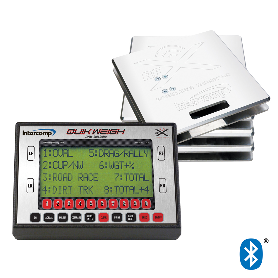 Intercomp 170319 Vehicle Scale, SW650, Electric, 15 in Square, 1500 lb Capacity Pad, Bluetooth / Wireless, Aluminum, Natural, Kit