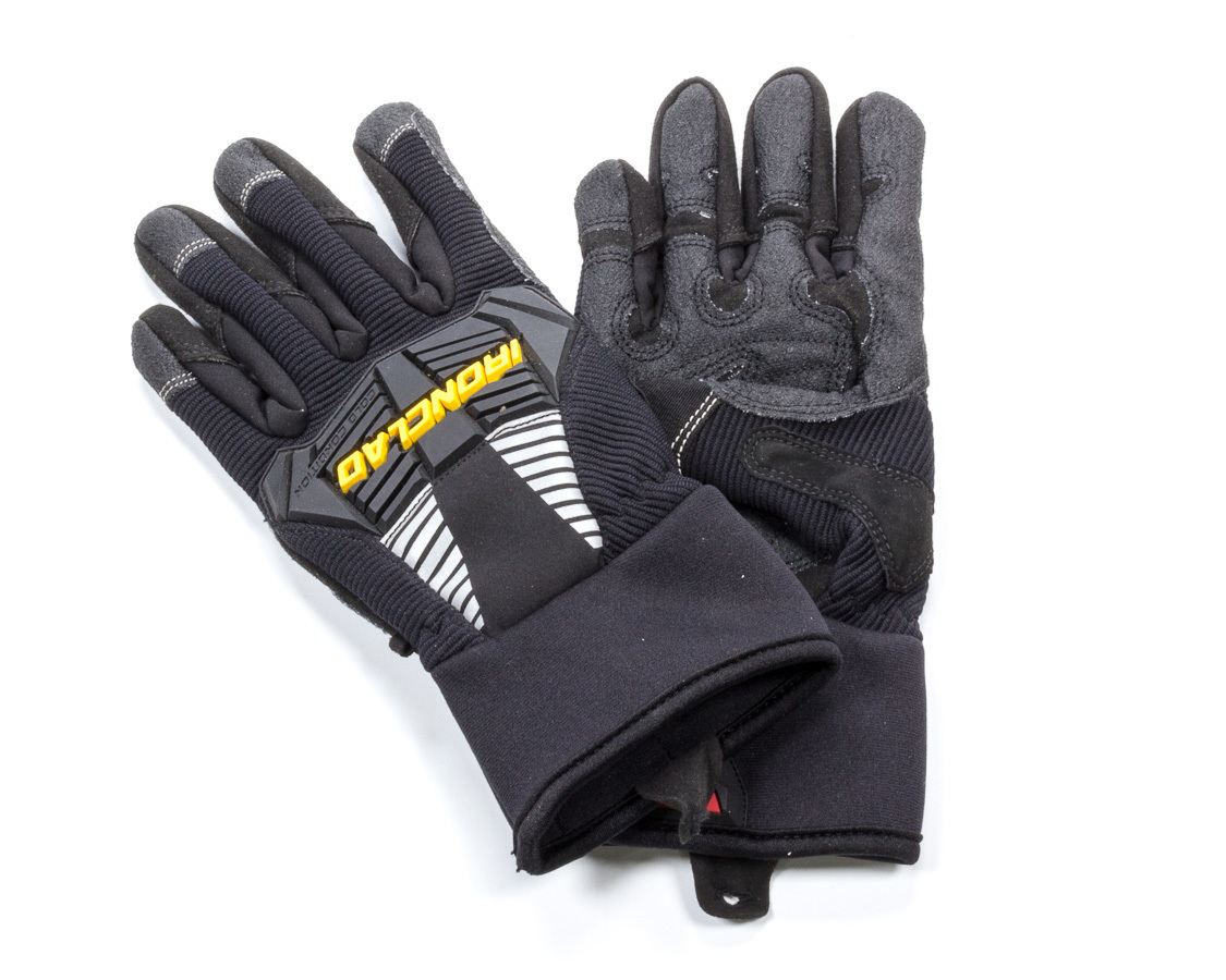Ironclad CCG2-01-XS Gloves, Shop, Cold Condition 2, Insulated / Reinforced Fingertips and Palm, Neoprene Closure, Nylon, Black, X-Small, Pair