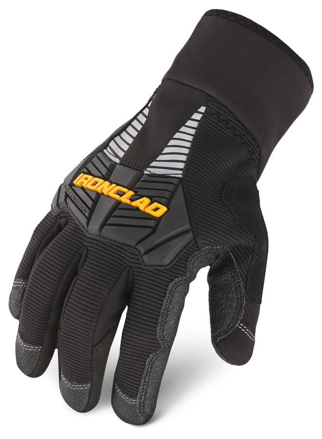 Ironclad CCG2-02-S Gloves, Shop, Cold Condition 2, Insulated / Reinforced Fingertips and Palm, Neoprene Closure, Nylon, Black, Small, Pair