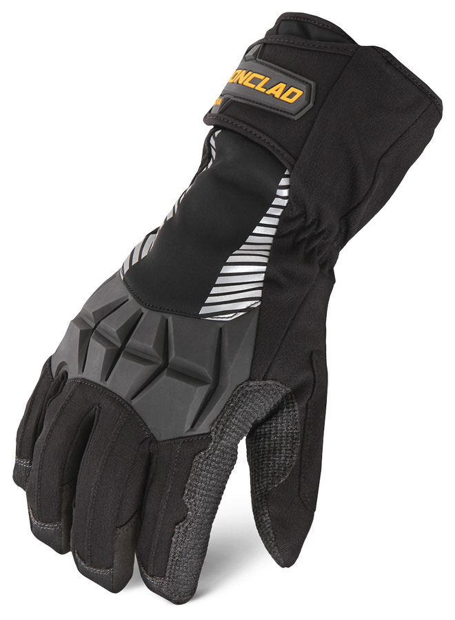 Ironclad CCT2-02-S Gloves, Shop, Cold Condition Tundra, Insulated / Reinforced Fingertips and Palm, Hook and Loop Closure, Kevlar, Black, Small, Pair