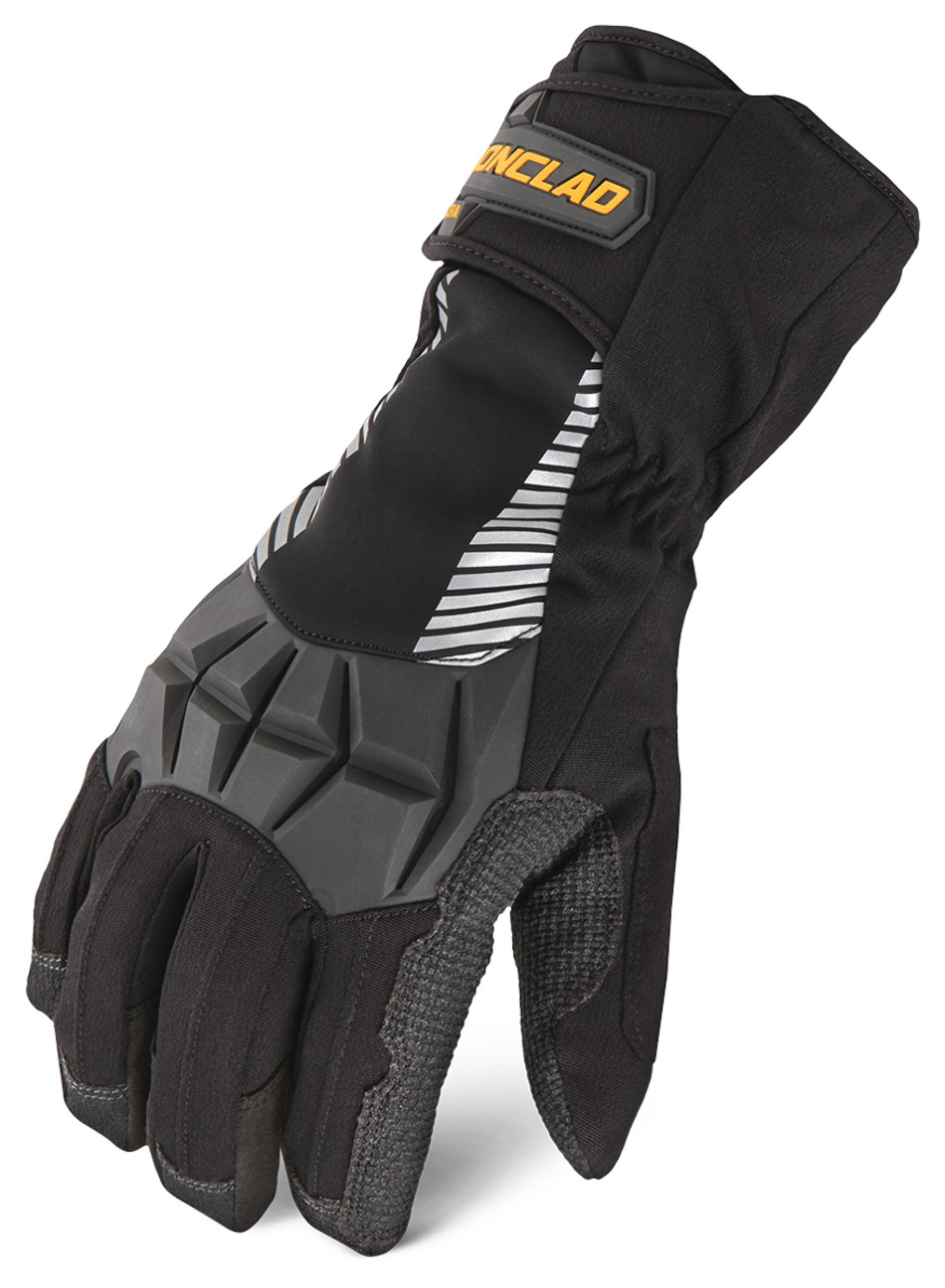 Ironclad CCT2-05-XL Gloves, Shop, Cold Condition Tundra, Insulated / Reinforced Fingertips and Palm, Hook and Loop Closure, Kevlar, Black, X-Large, Pair