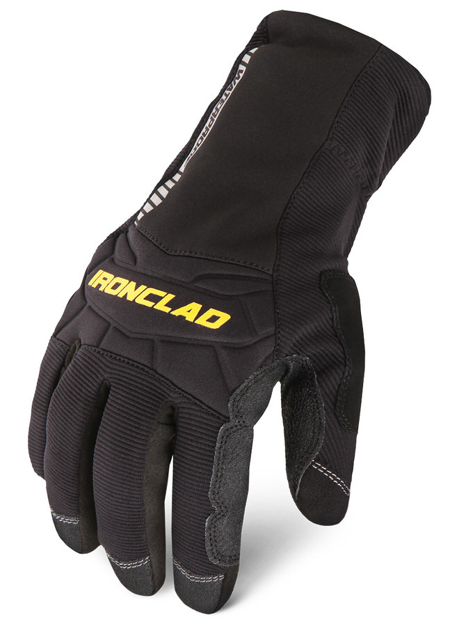 Ironclad CCW2-02-S Gloves, Shop, Cold Condition Waterproof, Insulated / Reinforced Fingertips and Palm, Neoprene Closure, Neoprene, Black, Small, Pair