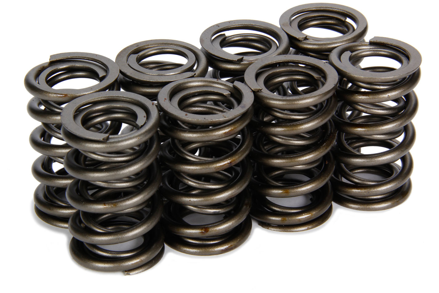 Isky Cams 625/626-8 Valve Spring, Dual Spring / Damper, 300 lb/in Spring Rate, 0.940 in Coil Bind, 1.235 in OD, Set of 8