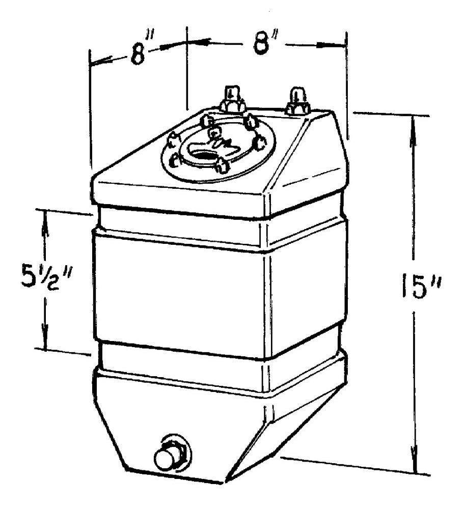 3-Gallon Pro Drag Fuel Cell