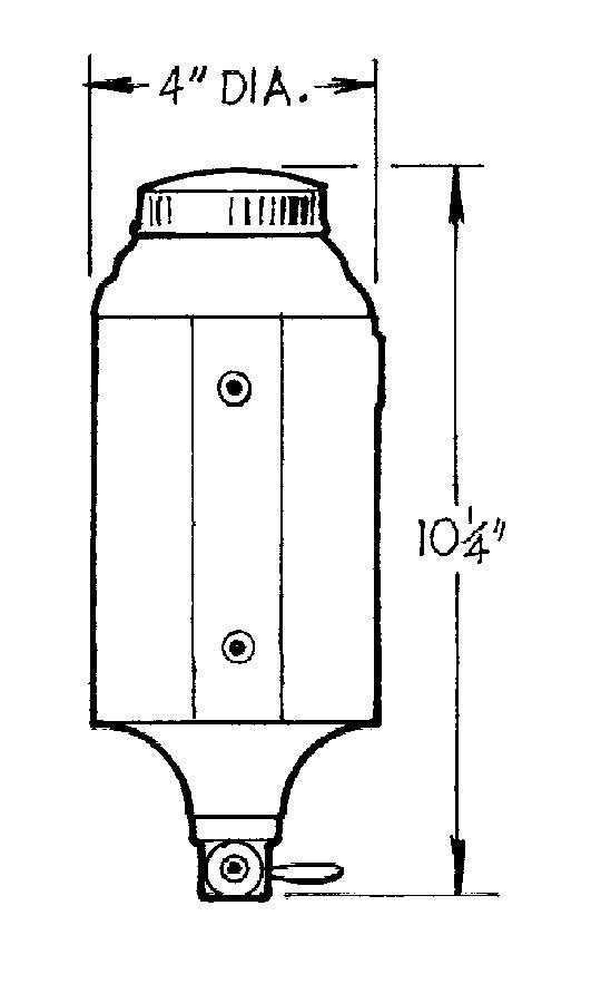 JR Dragster Fuel Cell 1qt. W/O Foam