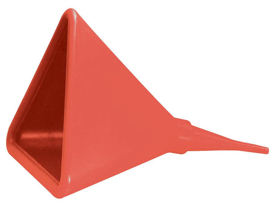 Jaz 550-016-06 Funnel, Triangular, 16 in Wide x 22 in Long, Plastic, Red, Each