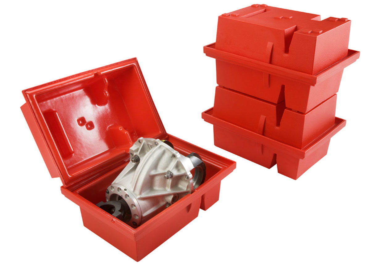 Jaz 700-008-06 3rd Member Storage Case, Protecto Ultra, Horizontal, Stackable, Plastic, Red, Ford 9 Inch, Each