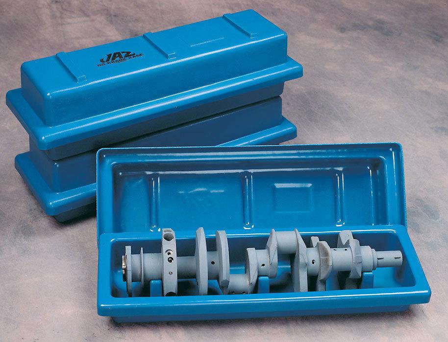 Jaz 700-301-11 Crankshaft Storage Case, Krank Kase, Plastic, Blue, Big Block Chevy Crankshafts, Each