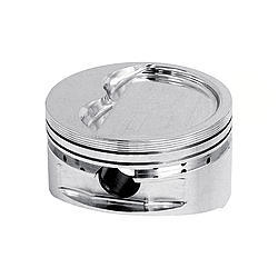 JE Pistons 170818 Piston, 23 Degree Extreme Duty, Forged, 4.155 in Bore, 1/16 x 1/16 x 3/16 in Ring Grooves, Minus 28.0 cc, Small Block Chevy, Set of 8