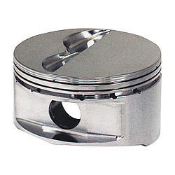 JE Pistons 181957 Piston, 18 Degree Flat Top, Forged, 4.125 in Bore, 1/16 x 1/16 x 3/16 in Ring Grooves, Minus 6.0 cc, Small Block Chevy, Set of 8
