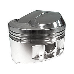 JE Pistons 182005 Piston, Small Block Dome, Forged, 4.030 in Bore, 1/16 x 1/16 x 3/16 in Ring Grooves, Plus 11.0 cc, Small Block Chevy, Set of 8
