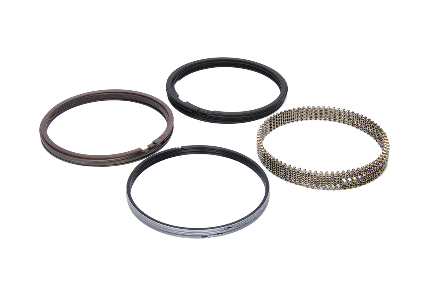 JE Pistons J71408-4130-5 Piston Rings, File Fit, 4.130 in Bore, 0.043 in x 0.043 in x 3 mm Thick, Low Tension, Iron, 8 Cylinder, Kit