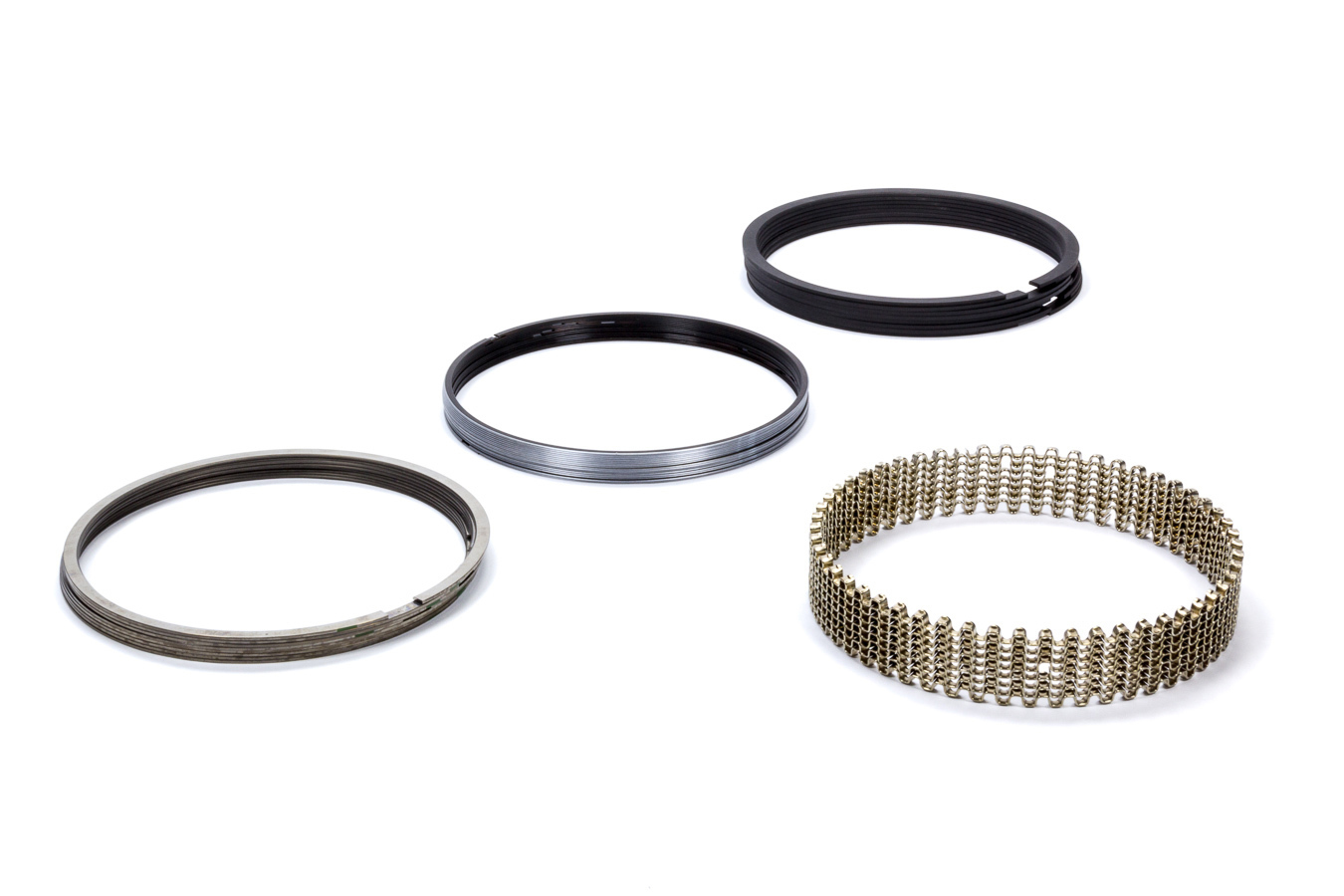 Standard Tension Kit 8 Cylinder 1.2 x 1.5 x 3.0 mm Thick 3.898 in Bore Stainless Steel Piston Rings