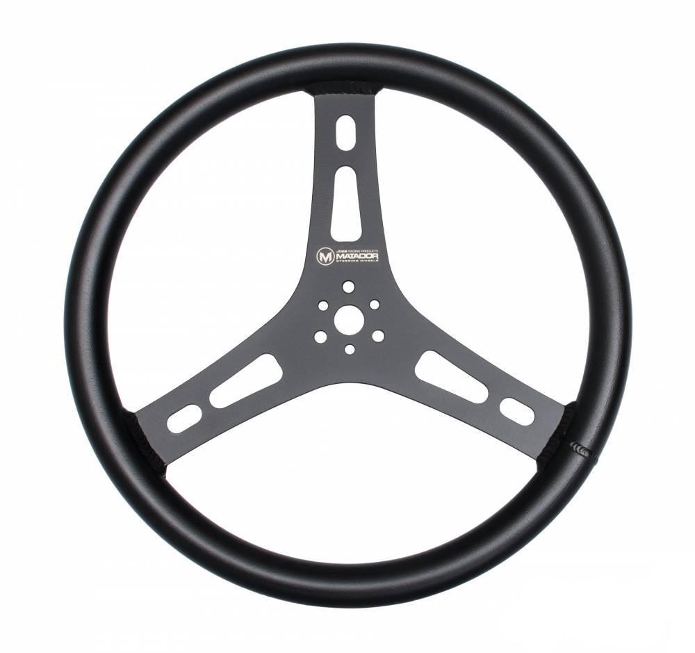 Matador Steering Wheel Black 15in Flat