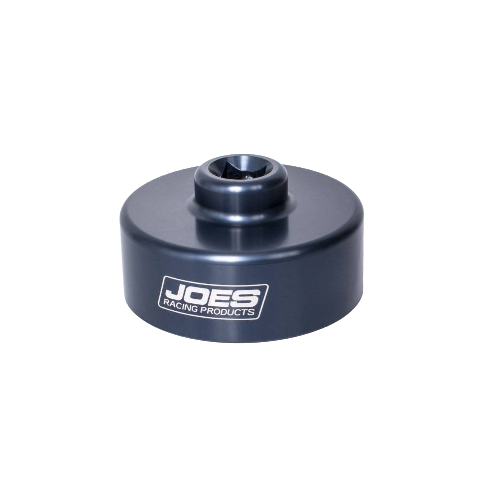 Joes Racing Products 40000 Spindle Nut Socket, 1/2 in Drive, Aluminum, Clear Anodize, 5x5 / Wide 5 Spindle Nuts, Each
