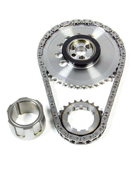 JP Performance 5618T Timing Chain Set, Single Roller, Keyway Adjustable, Needle Bearing, Billet Steel, GM LS-Series, Kit