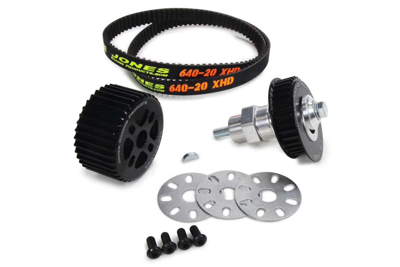 Jones Racing Products 2010-RA-604 Pulley Kit, V-Belt, Aluminum, Small Block Chevy, Kit