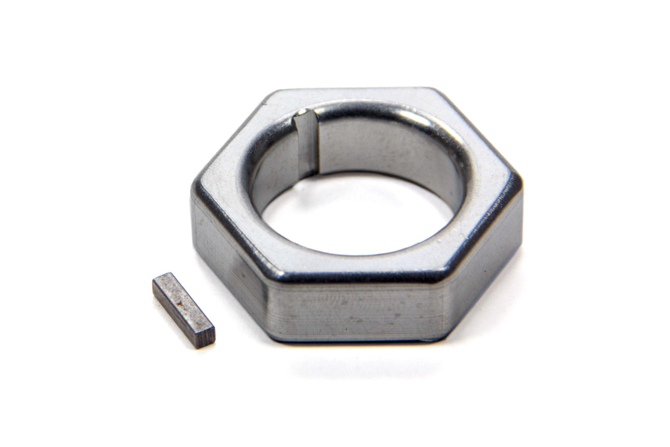 Jones Racing Products CSN-6103-A Mandrel Nut, 1-1/8 in Mandrel, 1/8 in Keyway, Aluminum, Clear Anodized, Each