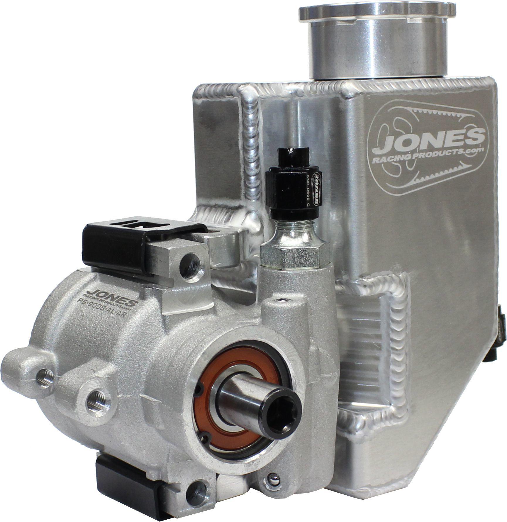 Jones Racing Products PS-9008-AL-AR Power Steering Pump, GM Type 2, 1100 psi, Aluminum Reservoir, Aluminum, Natural, Universal, Each