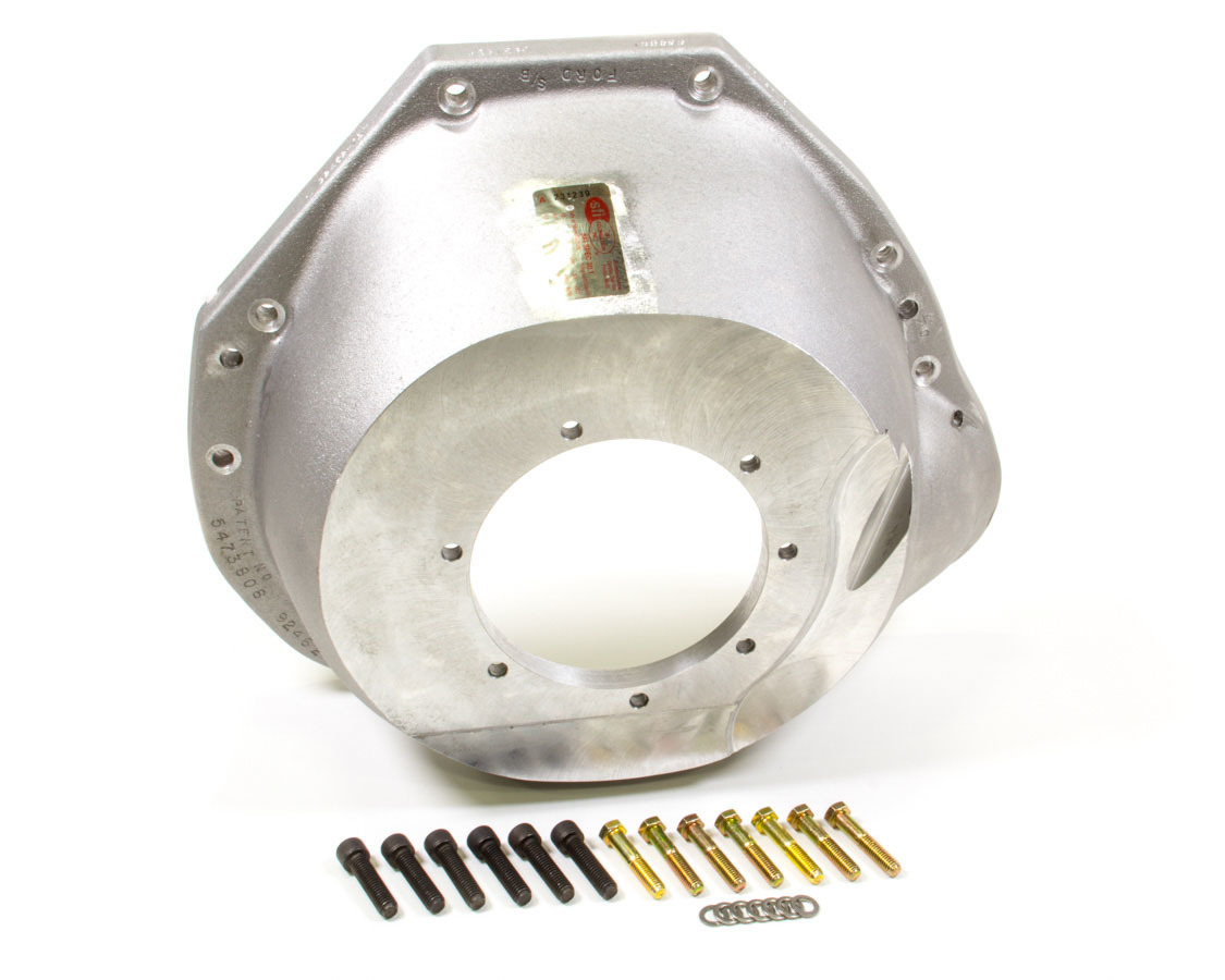 J-W Performance 92462-157 Bellhousing, Ultra-Bell, SFI 30.1, Aluminum, Natural, C4, 157 Tooth Flexplate, Small Block Ford, Each