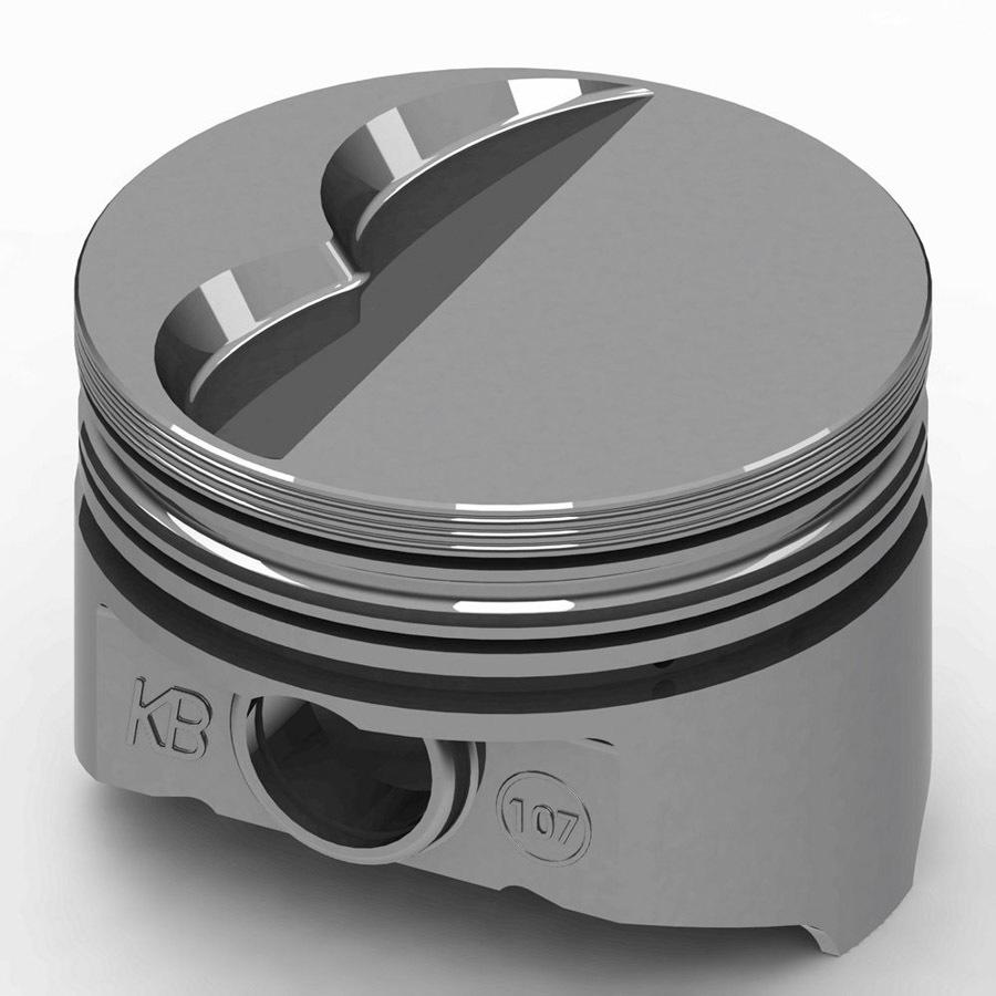 KB Performance Pistons KB107.030 Piston, KB Series, Hypereutectic, 4.030 in Bore, 5/64 x 5/64 x 3/16 in Ring Grooves, Minus 5.0 cc, Small Block Mopar, Set of 8