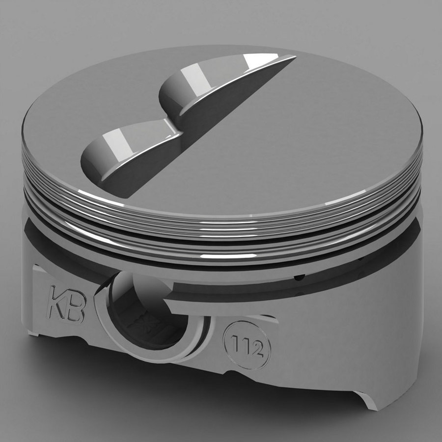 KB Performance Pistons KB112.030 Piston, KB Series, Hypereutectic, 4.030 in Bore, 1/16 x 1/16 x 3/16 in Ring Grooves, Minus 7.0 cc, Small Block Chevy, Set of 8