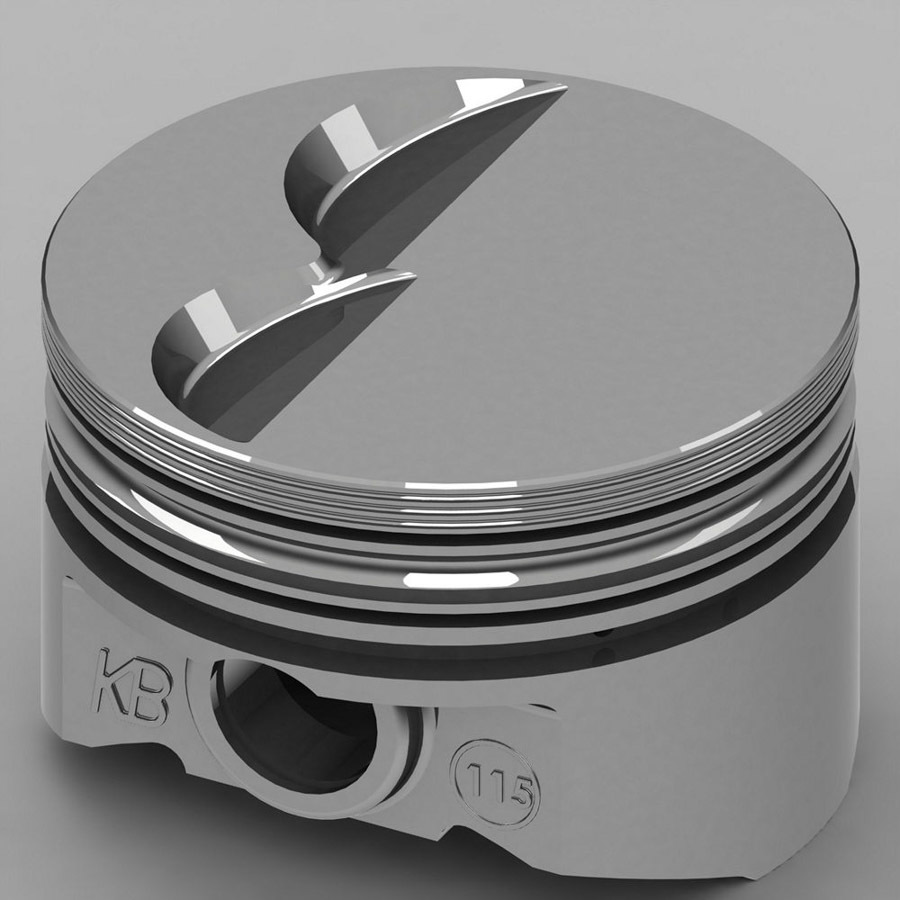 KB Performance Pistons KB115.030 Piston, KB Series, Hypereutectic, 4.030 in Bore, 5/64 x 5/64 x 3/16 in Ring Grooves, Minus 6.5 cc, Small Block Ford, Set of 8