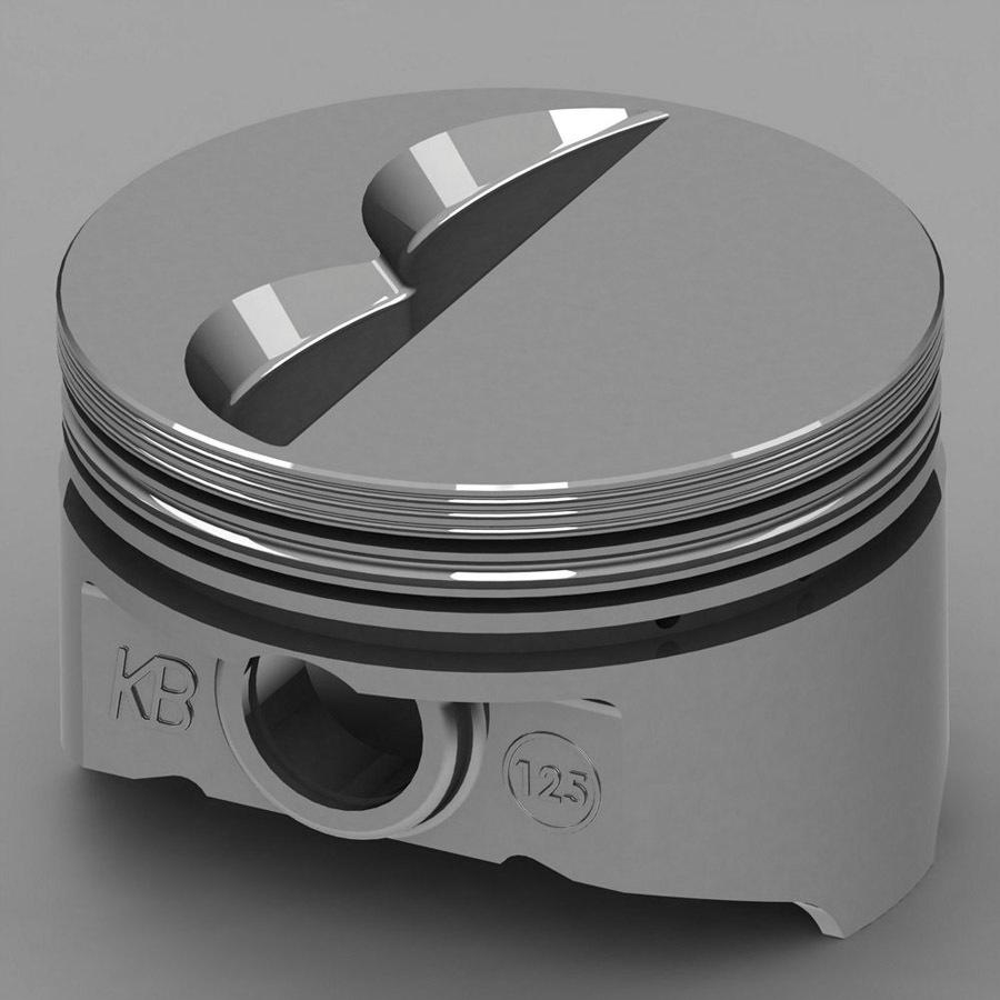 SBC Flat Top Piston Set 4.155 Bore -7cc