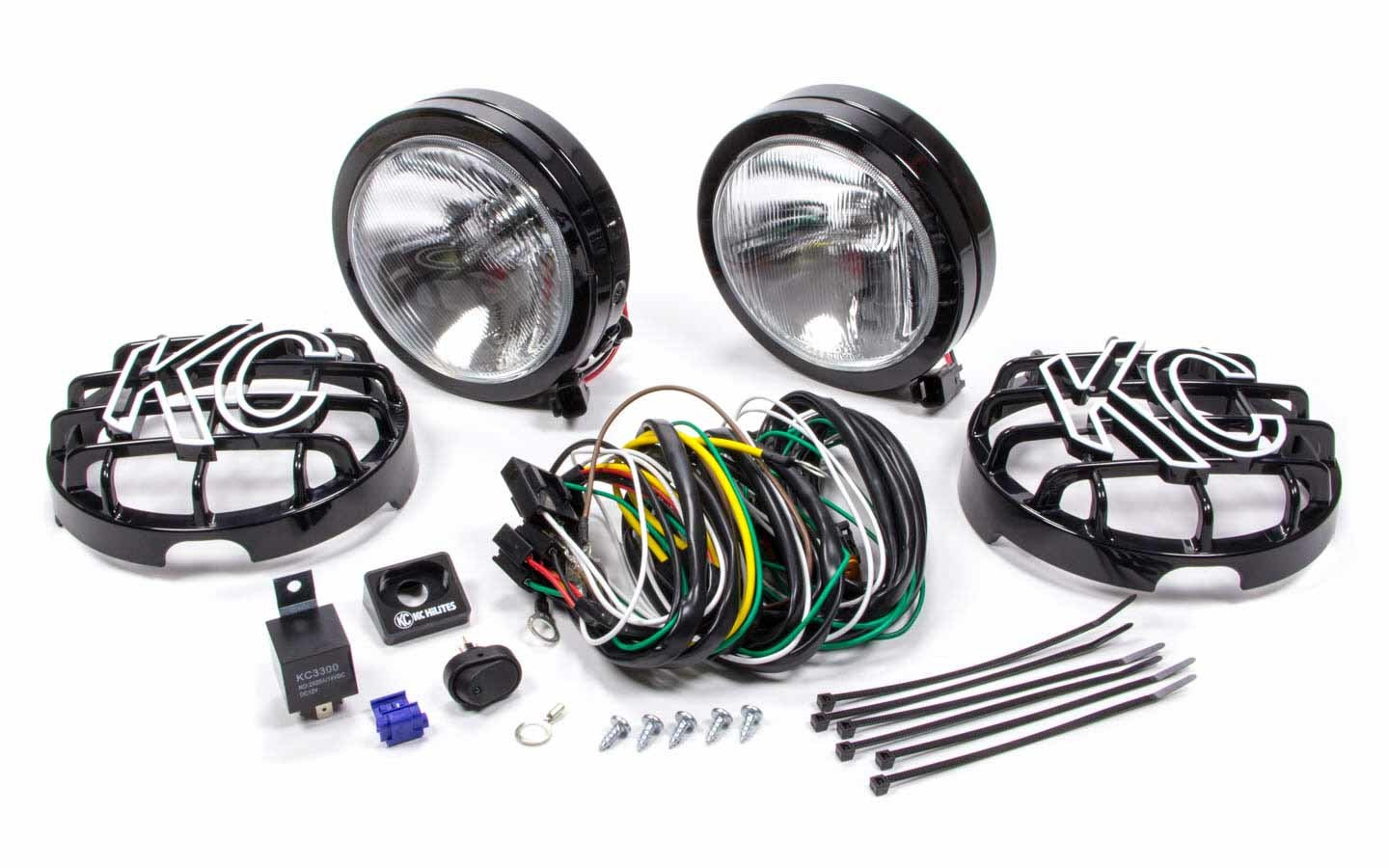6in Slimlite Black Driving Lights