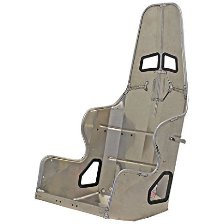 Kirkey 38160 Seat, 38 Series, 16 in Wide, 20 Degree Layback, Requires Snap Cover, Aluminum, Natural, Each