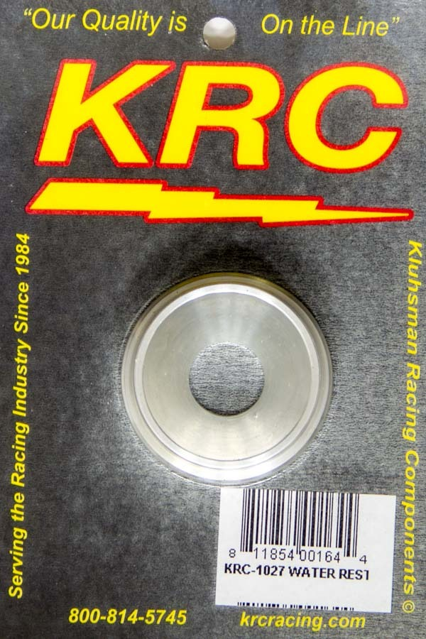 Kluhsman Racing Products 1027 Water Outlet Restrictors, Funnel Shaped, 5/8 in ID, Aluminum, Natural, Each