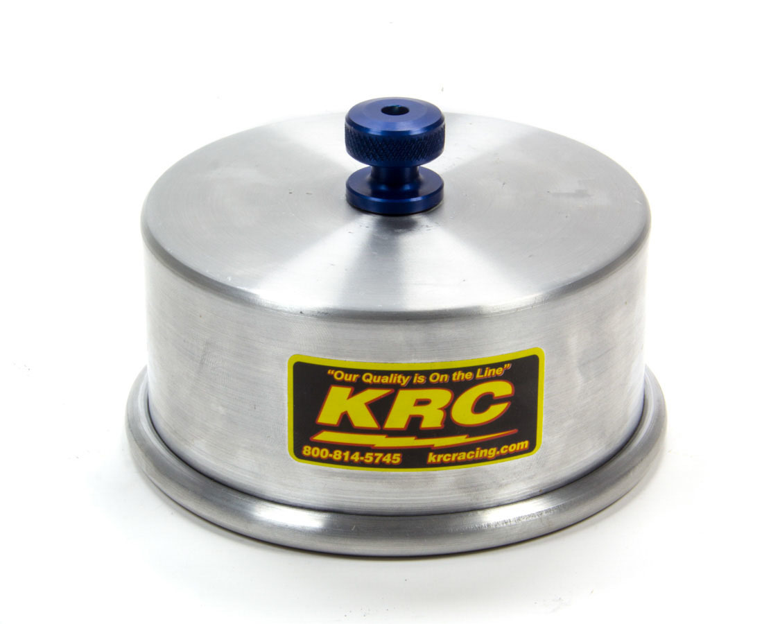 Kluhsman Racing Products 1029 Carburetor Cover, 1/4-20 in Speed Nut, O-Ring Seal, Aluminum, Natural, 5-1/8 in Flange, Each