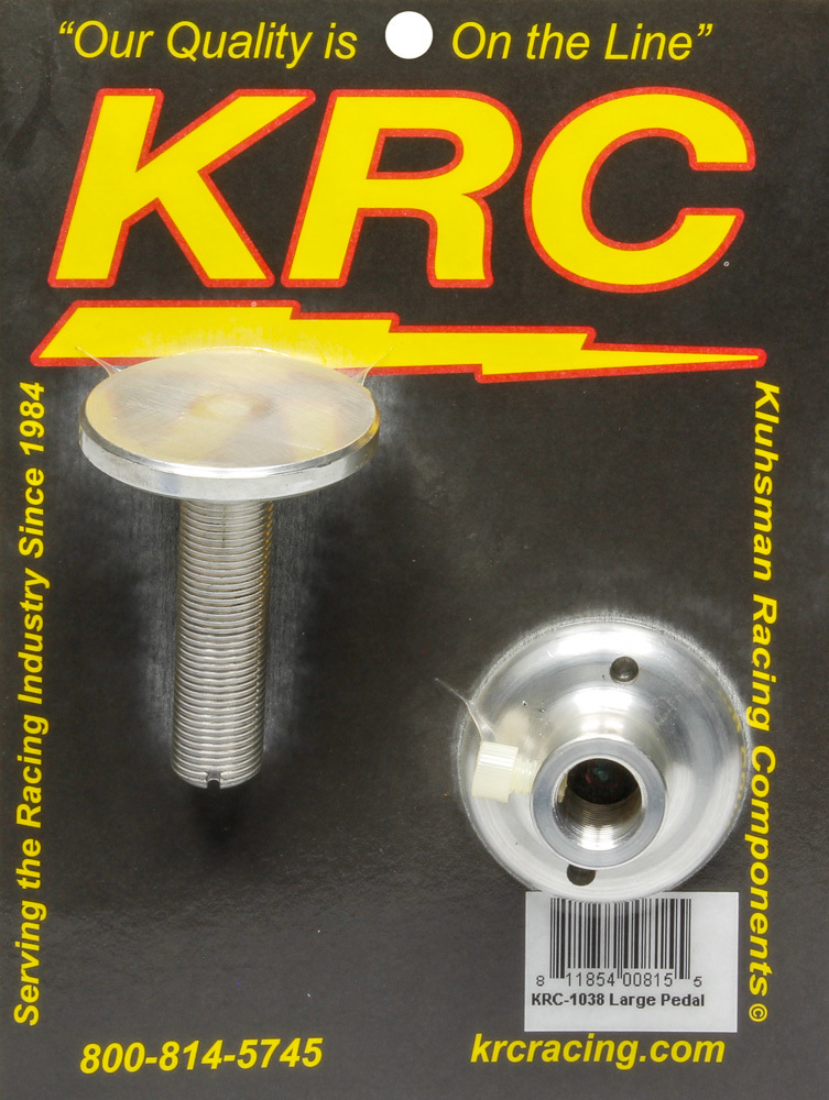 Kluhsman Racing Products 1038 Gas Pedal Stop, Large, 2-1/4 in Adjustment, Aluminum, Clear Anodize, Each