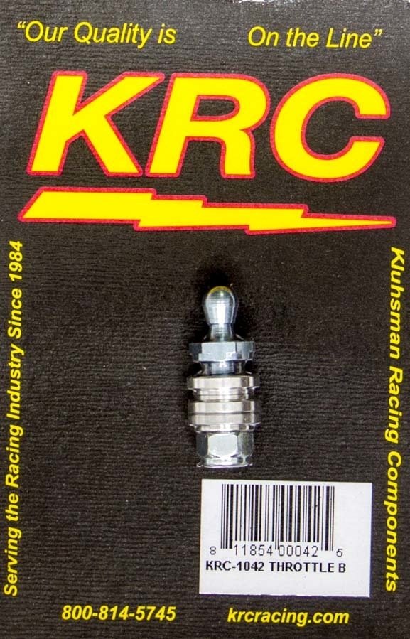 Kluhsman Racing Products 1042 Throttle Lever Stud, Quick Disconnect, Ball Joint, 1/4 in Ball, Steel, Cadmium, Universal, Each