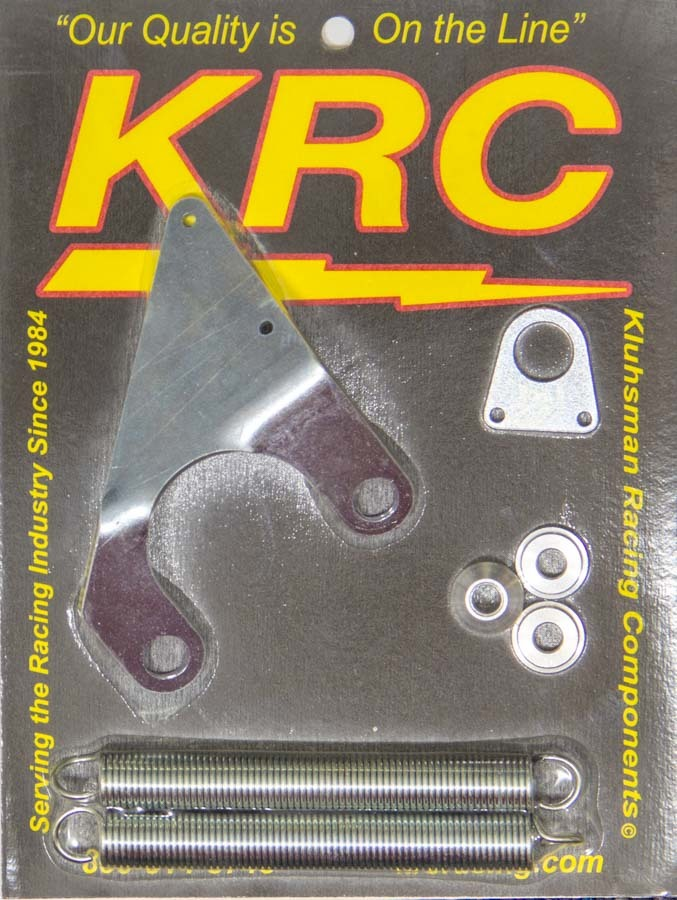 Kluhsman Racing Products 1046 Throttle Return Spring Kit, Manifold Mount, Brackets / Springs / Hardware, Steel, Zinc Oxide, Universal, Kit
