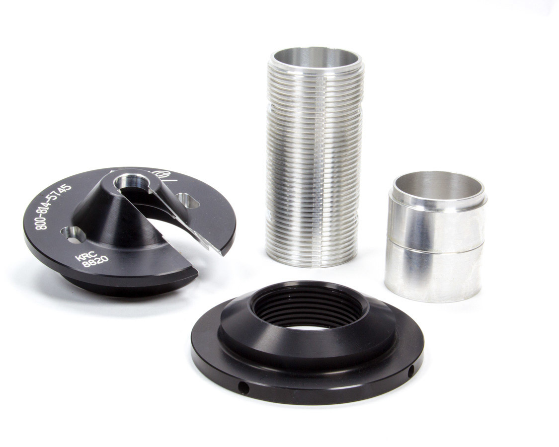 Kluhsman Racing Products 8820 Coil-Over Kit, 5.000 in OD Spring, Aluminum, Black / Clear Anodized, Bilstein Shocks, Kit