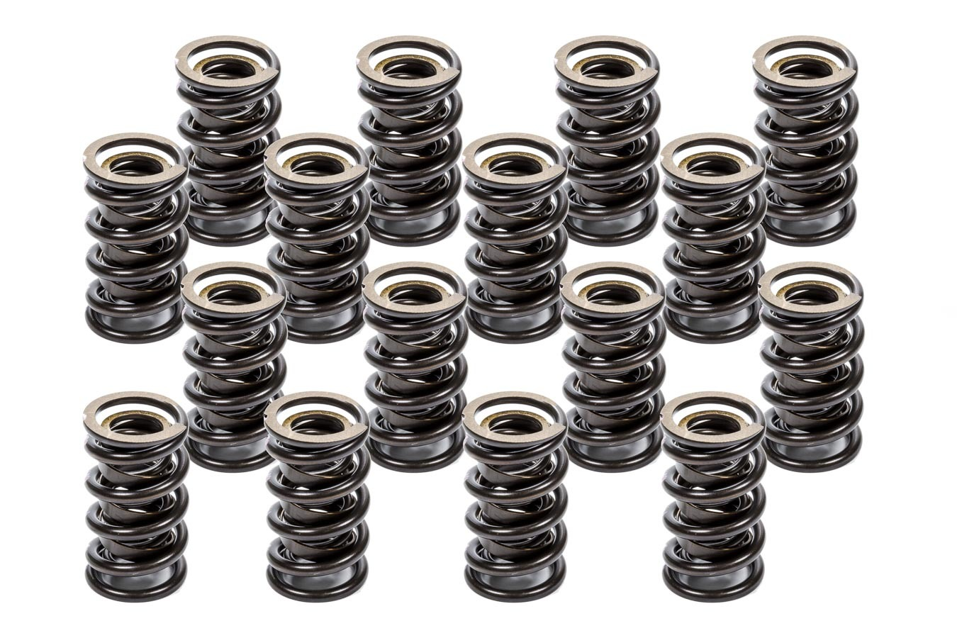 K-Motion K-1150 Valve Spring, Dual Spring / Damper, 531 lb/in Spring Rate, 1.150 in Coil Bind, 1.550 in OD, Set of 16