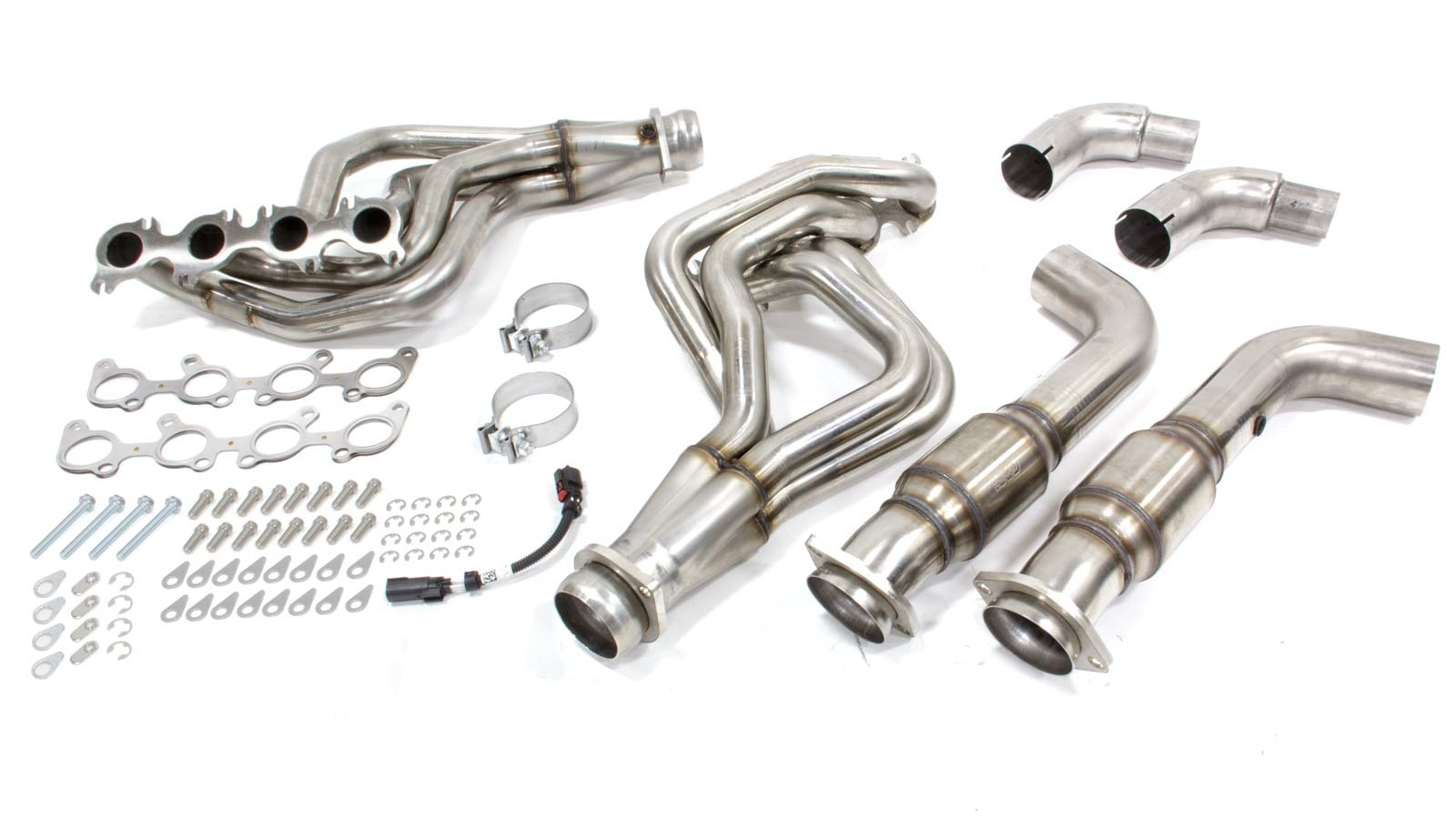 Kooks Headers 1151H230 Headers, Long Tube, 1-3/4 in Primary, 3 in Collector, Stainless, Natural, Ford Coyote, Ford Mustang 2015-17, Kit
