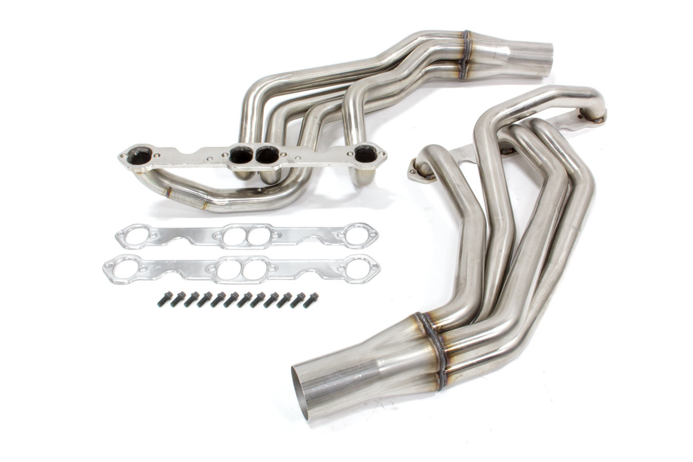 Kooks Headers 28202200 Headers, Long Tube, 1-3/4 in Primary, 3 in Collector, Stainless, Natural, Small Block Chevy, GM Fullsize Truck 1967-91, Kit