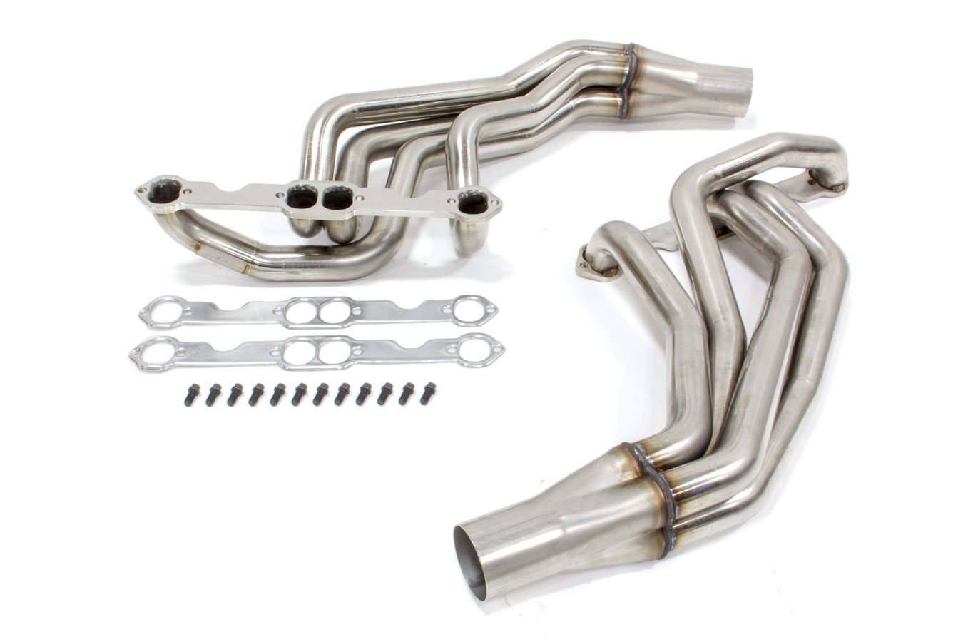 Kooks Headers 28202400 Headers, Long Tube, 1-7/8 in Primary, 3 in Collector, Stainless, Natural, Small Block Chevy, GM Fullsize Truck 1967-91, Kit