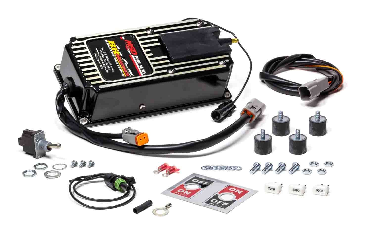 King Racing Products ING8106-BLK Ignition Box, Pro Mag, Electronic Points Box, Rev Limiter, MSD Pro Mag 12, Black, Each