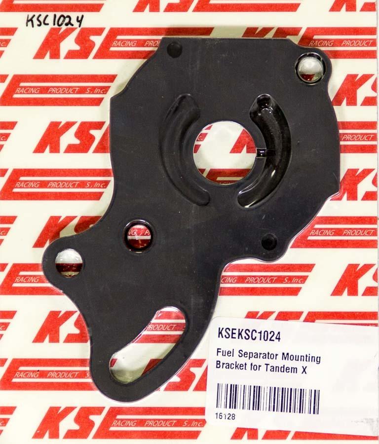 K.S.E. Racing KSC1024 Power Steering Pump Bracket, Aluminum, Black Anodize, KSE Tandem / TandemX Power Steering, Each