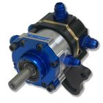 K.S.E. Racing KSC1064-002 Tandem Pump, TandemX, Belt Driven, 5/8 in Diameter Shaft, Billet Aluminum, Black / Clear Anodize, Gas / Alcohol, Each