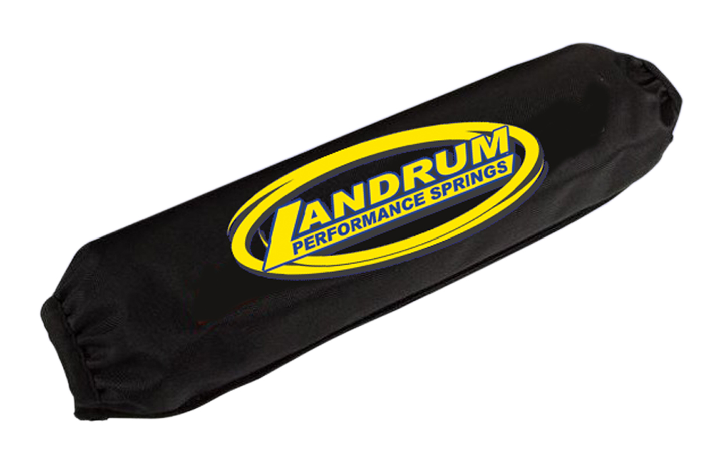 Landrum Springs SB13 Coil-Over Cover, 5 in ID, 13 in Long, Elastic Ends, Hook and Loop Closure, Polyester, Black, Each