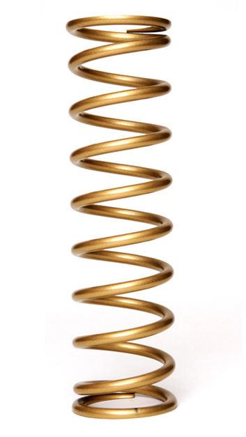 Landrum Springs Y7-400 Coil Spring, Coil-Over, 2.250 in ID, 7.000 in Length, 400 lb/in Spring Rate, Gray Powder Coat, Each